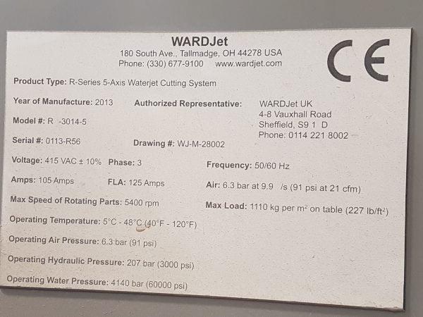 8249 WardJet vatnsskurðarvél R-3014-5