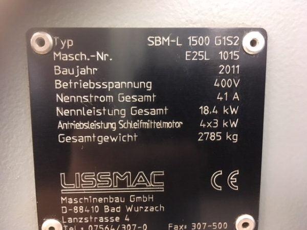 8240 Lissmac SBM-L G152 1500 Slípívél